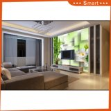 Green Bamboo White Lotu Design 3D Decoration Paintings for TV Background