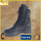 Black Genuine Leather Outdoor Safety Shoes Military Motorcycle Police Boots