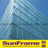 Aluminium Stick Curtain Wall System in Glass