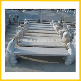 Granite Stone Garden Decor Carved Animal Bench