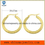 Shineme Jewelry Vacuum Plating Gold Stud Earring (ERS6918)