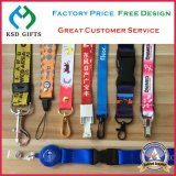 Office Lanyard Custom Polyester Neck Strap with Metal Hook & Detachable Buckle