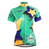 Stars Verdurous Summer Short Sleeve Cycling Shirts Women′s Cycling Jerseys Row of Han Sport Outdoor with Pockets