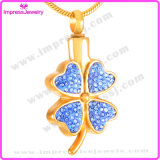 Ijd8220 Cheap Gold Plating Flower Cremation Pendant Necklace Ashes Keepsake Memorial Holder