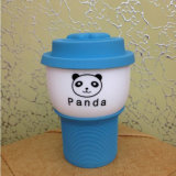 Coffee Cup with Lid and Silicone Cindy Color Fastener Cup