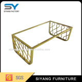 French Style Furniture Gold Glass Coffee Table