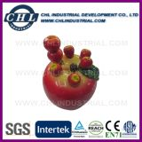 Promotional Resin Apple Shape Fruit Fork with Polyresin Head