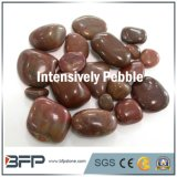 High Polished River Stone, Intensively Red Pebble for Bathroom Decorationgarden