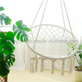White Color Deco Garden Hammock Chair with Tassles