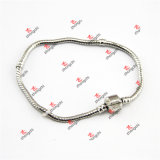 Fashion Unisex Brass Bead Snake Chain Bangle Bracelets Jewelry (SKL60226)