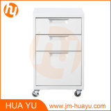 Furniture Powder Coated Metal Movable 3 Drawers Storage Cabinet for Living Room