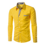 Long Sleeve Stylish Dress Shirts with Chest Pocket (A448)