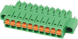Pitch 3.5mm Plug-in Terminal Block with Nut (WJ15EDGKNM-3.5)