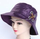 Fashion Purple Brushed Cotton Cap Woman