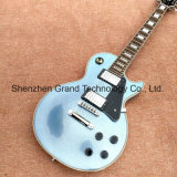 Custom Lp Electric Guitar in Metallic Blue with Chrome Hardware (GLP-558)