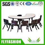 Height Adjustable U Shaped Kindergarten Table with Chairs