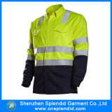 Work Long Sleeve Shirt Manufacturers Hi Vis Safety Work Wear