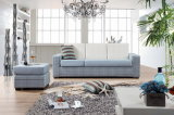 Fabric L Shaped Sofa with Stool