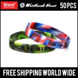 1/2 Inch Custom Silicone Bracelet
