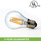 A19 7W LED Filament Bulb with CE RoHS UL Certifications