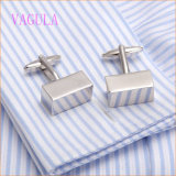 VAGULA New Arrival Rhodium Plated Smooth Square Shirt Cuffs