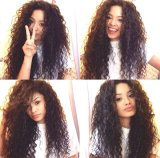 """High Quality 100% Human Hair Weaving Jerry Curl 18"""" Natural Color"""
