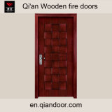 Black Walnut Entry Door Interior Wooden Fire Door