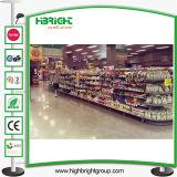 Metal Gondola Half Round Shape Supermarket Shelf