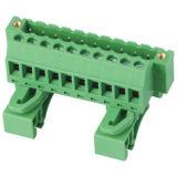 Plug-in Terminal Block with DIN Rail (WJ2EDGUVKM-5.08mm)