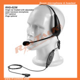 Single Ear Headset with Adjustable Metal Rod/Boom Mic