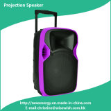 Newest Portable Multimedia LED Projection Speaker with Wireless Mics