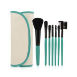 Synthetic Nylon Cosmetic Portable 7 PCS Set PU Bag Professional Makeup Brushes