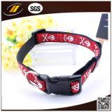 Wholesales Custom Colorful Nylon Jacquard Pet Collar (HJ9107)