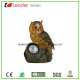 New Resin Statue Owl Solar Light Garden Ornament for Outdoor Decoration