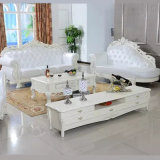 Living Room Furniture Set with Wooden Leather Sofa (929P)