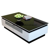 Leading Fashion Bright Organized Wooden Coffee Table with Glass Top