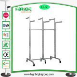 Six Arms Stainless Steel Garment Rack