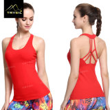 Backless Sexy Compression Wear Yoga Vest for Lady Fitness