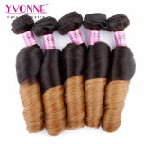 Fashion Ombre Color Curly Brazilian Remy Human Hair
