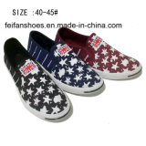 Newest Fashion Men′s Slip on Printing Canvas Shoes (DL160624-10)