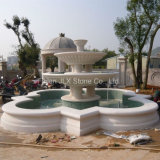 Large Outdoor White Marble Fountain Pool for Garden