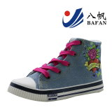 Fashion Women Canvas Shoes with Flower Printing