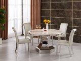 Wholesale Round Marble Dining Table with Strong Metal Base