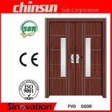 Double PVC Door with Glass (SV-P003)
