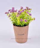 Various Wild Artificial Flower in Paper Mache Pot