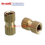 Brass Straight Knurled Threaded Insert Nut