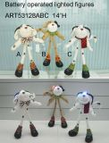 Standing Dogs with Lighting Eyes, 3 Asst-Christmas Lights