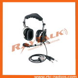 Pnr Aviation Headset Aircraft Headphones with Metal Boom Microphone