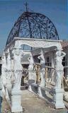 Stone Marble Garden Pavilion for Antique Outdoor Decoration (GR012)