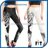 Lady Slim Sports Leggings Special Printed Tree Pants